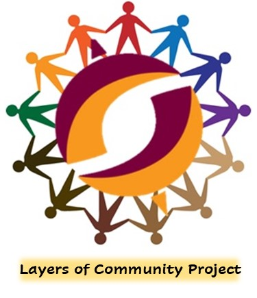 Cutout-style people of various colors holding hands in a circle.