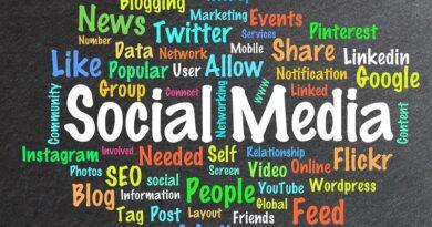 social media terms word splash